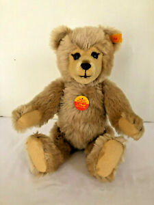 Original-Steiff-Teddy-Dark-Blond-Jointed-Limbs-14-1991-1994-EAN-010859