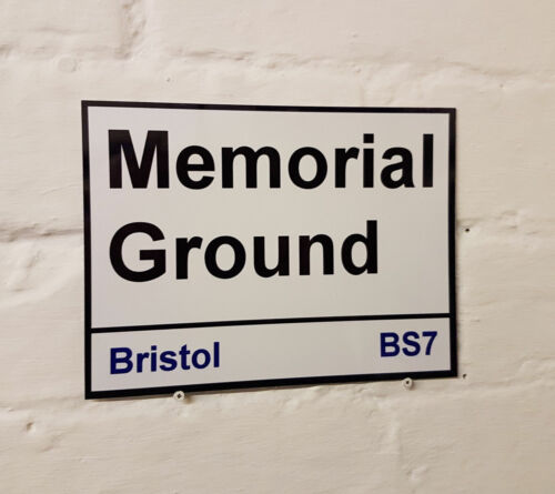Bristol Rovers fc Memorial Ground metal Street Sign 2 Sizes Available football