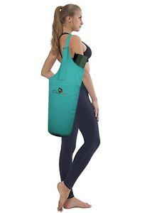 Yoga-Mat-Bag-Carrier-Adjustable-Strap-Fits-Mat-amp-Blocks-Pilates-Gym-Sports