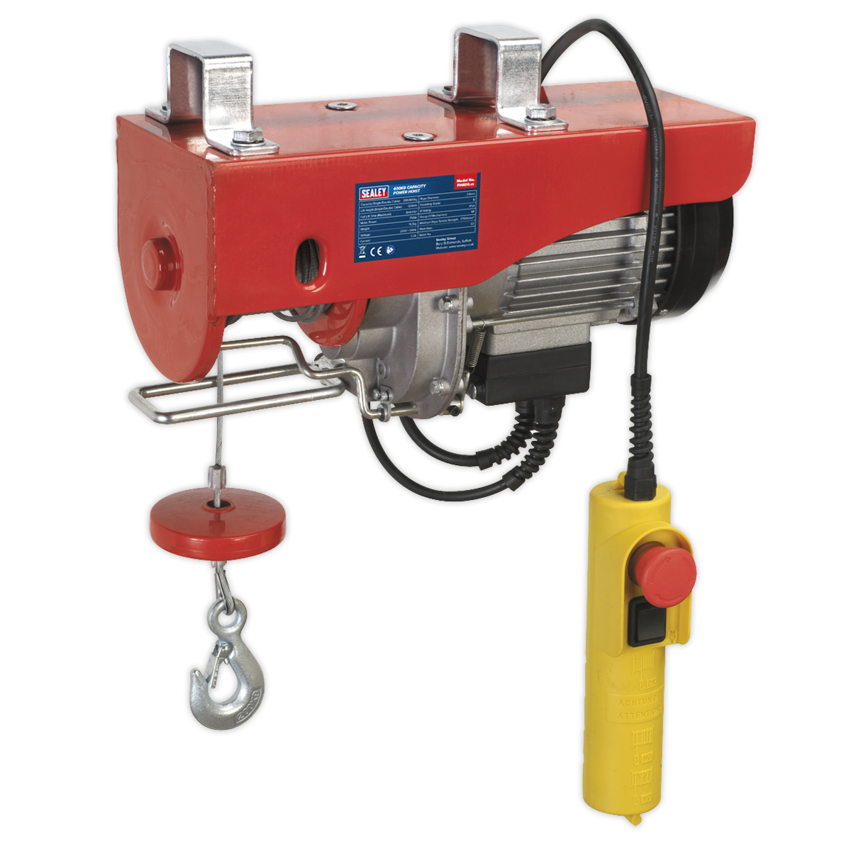 Power Hoist 230V 1ph 400kg Capacity   SEALEY PH400 by Sealey   New