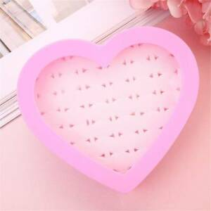 Earring-Storage-Case-Ring-Holder-Ring-Box-Heart-shape-36-Holes-Box-Durable