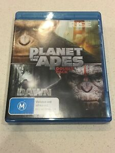 Rise-Of-The-Planet-Apes-Dawn-Planet-Of-The-Apes-Blu-Ray-Double-Pack-Like-New