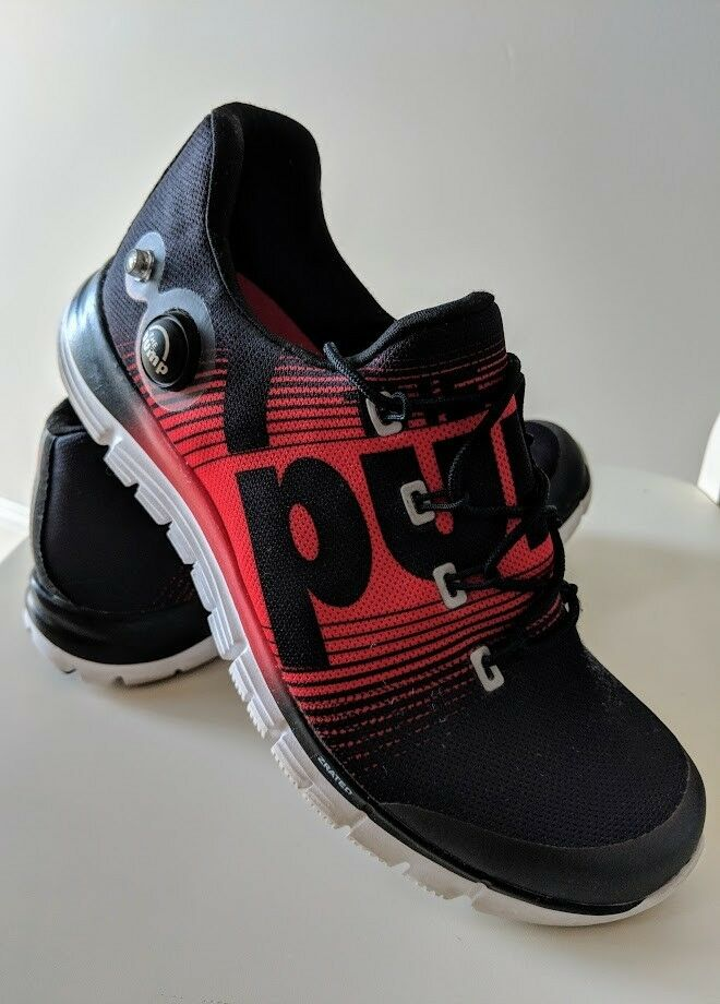 Reebok The Pump Red Black Running shoes Men's US Size 6.5