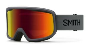 Smith-Frontier-Snow-Goggles-Charcoal-Frame-Red-Sol-X-Mirror-Lens-New-2021