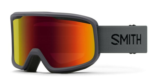 Smith Frontier Snow Goggles, Charcoal Frame, Red Sol-X Mirror Lens New 2021