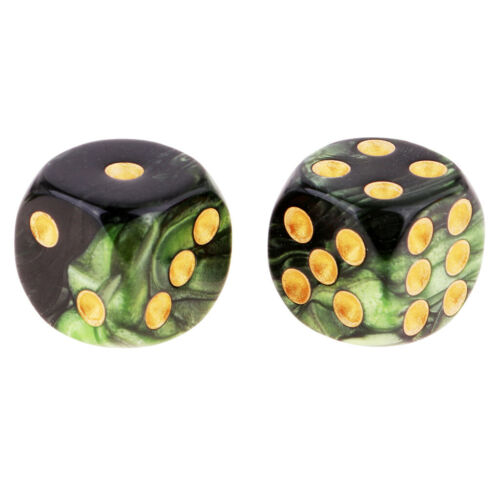 20pcs Square 16mm Six Sided D6 Opaque Standard Dice for Table Games