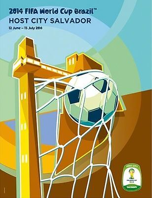 World Cup 2014 WC Brasil Host City SALVADOR CITY Soccer Art Poster New 26 x 34