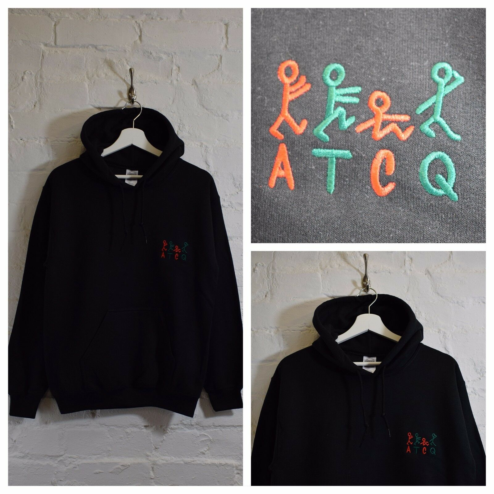 Actual FACT ATCQ Tribe Called Quest Kapuze schwarzes Sweatshirt