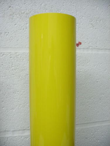 GLOSS YELLOW SELF ADHESIVE VINYL- STICKY BACK PLASTIC  610mm x 1mtr