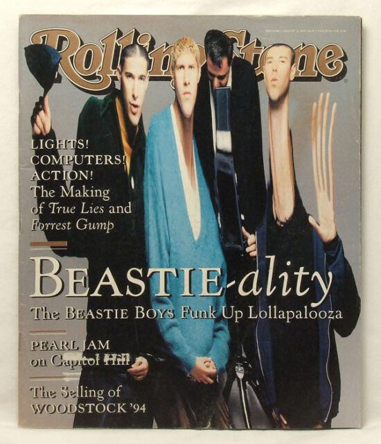 Beastie Boys ROLLING STONE MAGAZINE Issue 688 Pearl Jam Woodstock August 11 1994