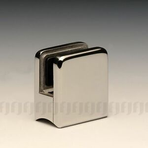 STAINLESS-STEEL-316-SQUARE-SHAPE-GLASS-CLAMP-FOR-10-12mm-GLASS-ROUND-BACK-SATIN