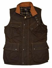 Polo Ralph Lauren Double RL RRL Men Waxed Cargo Utility Vest Jacket Brown Medium