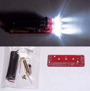 JOULE-THIEF-LED-Flashlight-UNBUILT-PCB-DIY-electronics-learning-project-toy-KIT