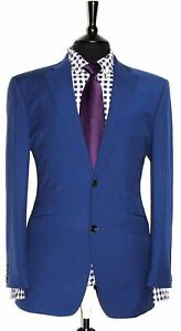 Luxury Mens Austin Reed 2 Piece Blue Suit 42r W34 X L30 Ebay