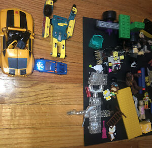 Variety toy lot, parts to transformers- Bots 1984(missing one arm)…