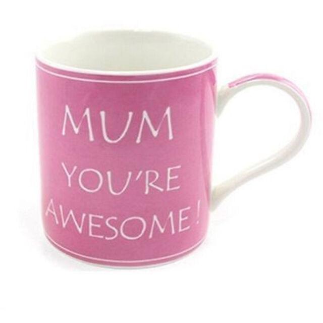 Lesser & Pavey Pink & White mumyou're awesome fine china mug LP33272