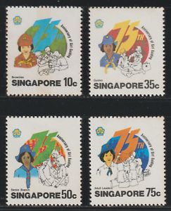 (117)SINGAPORE 1985 75TH ANNIVERSARY OF THE GIRL GUILDING SET 4V MNH