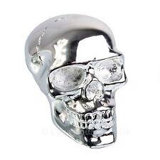 Silver Skull Gear Shift Knob Nemesis Now Gothic Gearstick 5cm High