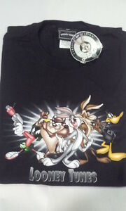 LOONEY-TUNES-CLASSIC-COLLECTION-T-SHIRT-1997-98-NEW-TAG-Size-XL-BLACK