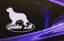 """""""GOLDEN LIFE""""  Golden Retriever Dog Window Vinyl Decal Sticker Car Window 6""""x5"""""""