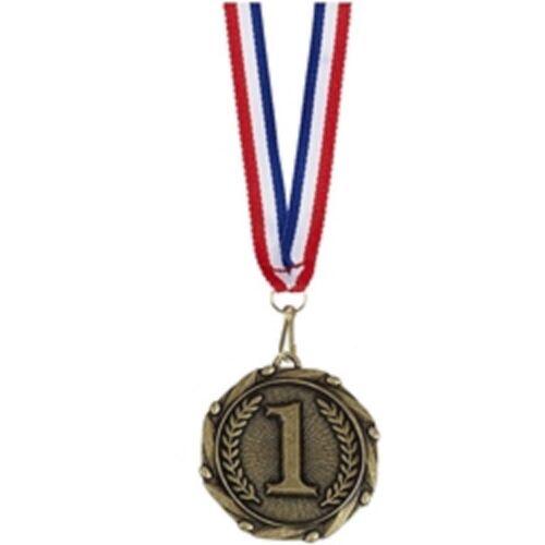 45 mm médaille avec 800 mm ruban Personnalisé Gravé FREE Combo 1st numéro 1