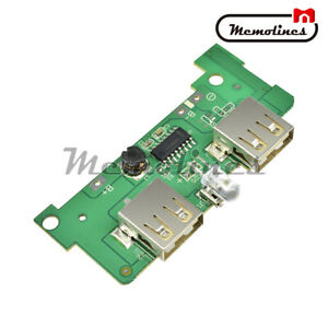 Details about Dual USB 5V 1A LED Power Bank Charger Module Boost Step Up  PCB Circuit Board New