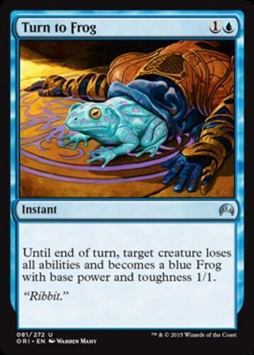 x4 Turn to Frog MTG Magic 2015 U M//NM English