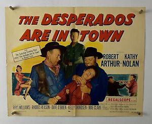 Desperados In Town Movie Poster Fine Half Sheet 1956 Cowboy Western 122 Ebay