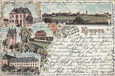 Gruss aus Kempen AK 1897 Mehrbild Litho Niederrhein Nordrhein-Westfalen 1609051