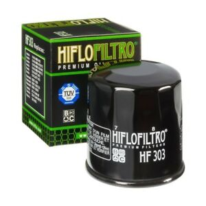 Hiflofiltro HF303 Filtre à Huile Moto - Noir