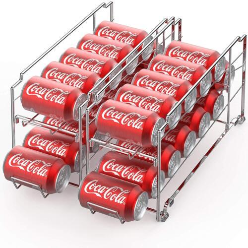 Stackable can organizer Can Beverage Dispenser Rack Kitchen Storage Cabinet 2 Pc