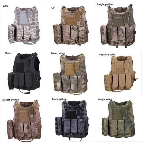 Adjustable Tactical Military Vest Molle Waistcoat Combat Assault Camouflage Vest