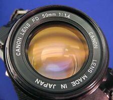 Canon f1.4 1:1.4 50mm FD Lens AE-1 A-1 F-1 AV1 AL-1 AT-1 T50 T70 T90 Excellent