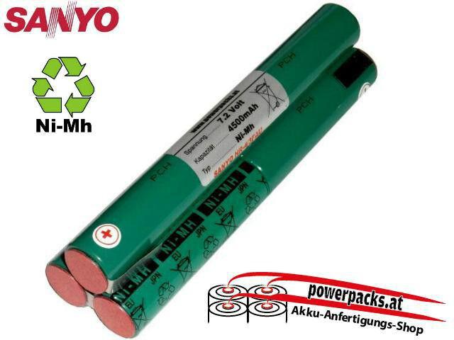 Tauchlampen Akku anfertigung für alle Modelle SANYO 4 3FAU 3L 7.2V4500mAh