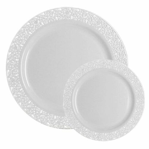 Vajilla De Plastico De 200 Platos Para Casamientos Fiestas Cumpleaños 15 Años