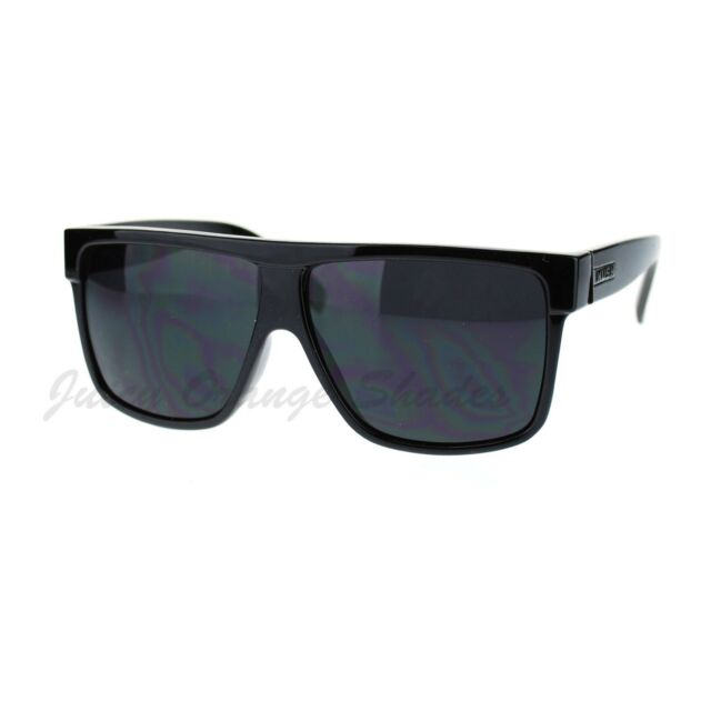 426f95f79341 Kush Men s Sunglasses Flat Top Square Frame Black Dark Lens for sale ...