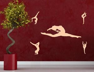 Set-of-Gymnastics-Beautiful-Girls-Durable-Wall-Sticker-Decor-15cm-Height-UK