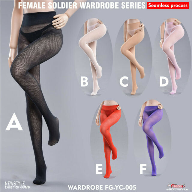 1//6 Fire Girl Toys FG069 Female Seamless Stockings Lace Underwear Clothes Set