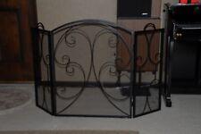 Wrought Iron  Design Folding Fireplace Screen