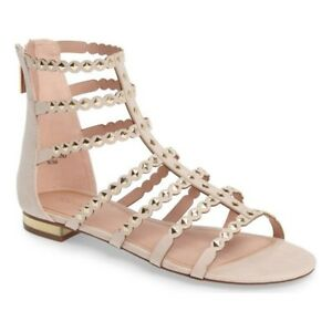 best price famous brand store Details about Topshop Nude Studded Sandals Flats Shoes Size 6 / 39 RRP £30