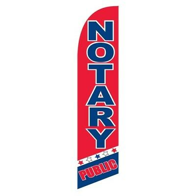 CLAMANTOS Banner Flag and Pole Windless Feather 2.5 wide Swooper RD BLE