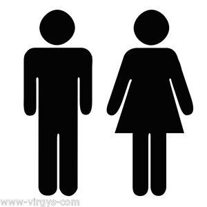 15x10cm Sticker WC Toilettes Tailles et Coloris Divers 40x30cm WC002