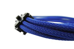 GELID-SOLUTIONS-6-Pin-Blue-Braided-Cord-PCI-E-Extensions-30cm-UV-Reactive-M5B4IT