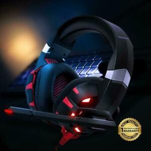 Runmus Pro Gaming Headset With Mic Xbox One Wireless Ps4 Headphones Microphone 192242571469 Ebay