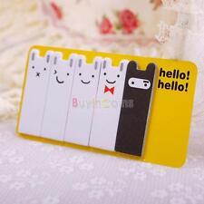 Korean Cute Smiley Bunny Stationery Hello Sticker Bookmark Memo Pad Sticky Notes