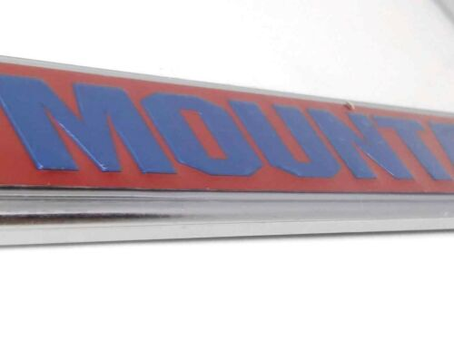 U.S Army 10th Mountain Raised Letters Chrome License Plate Frame