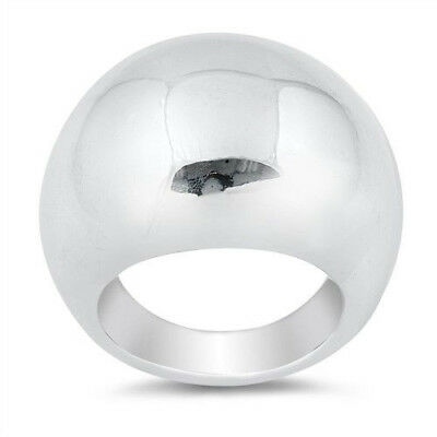 Plain Ring Genuine Sterling Silver 925 Polished Selectable Face Height 25 mm