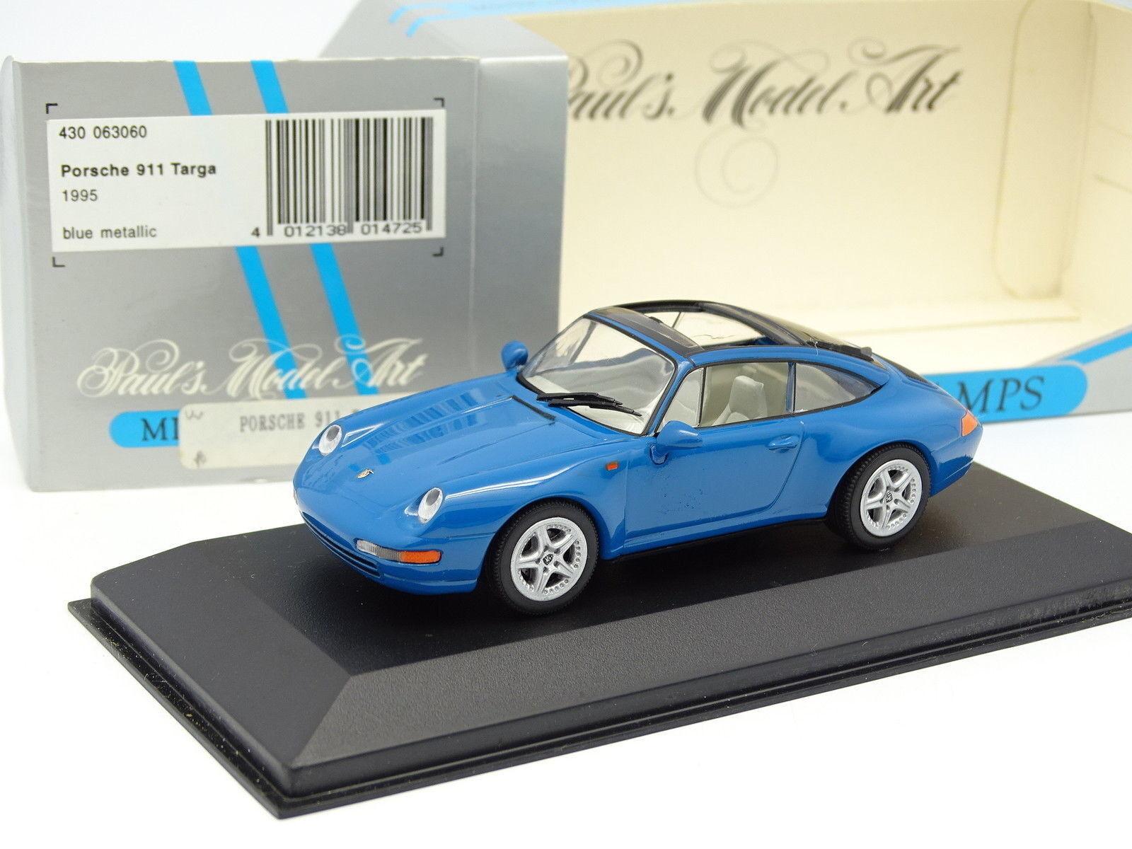 Minichamps 1 43 - Porsche 911 993 Targa 1995 Bleue