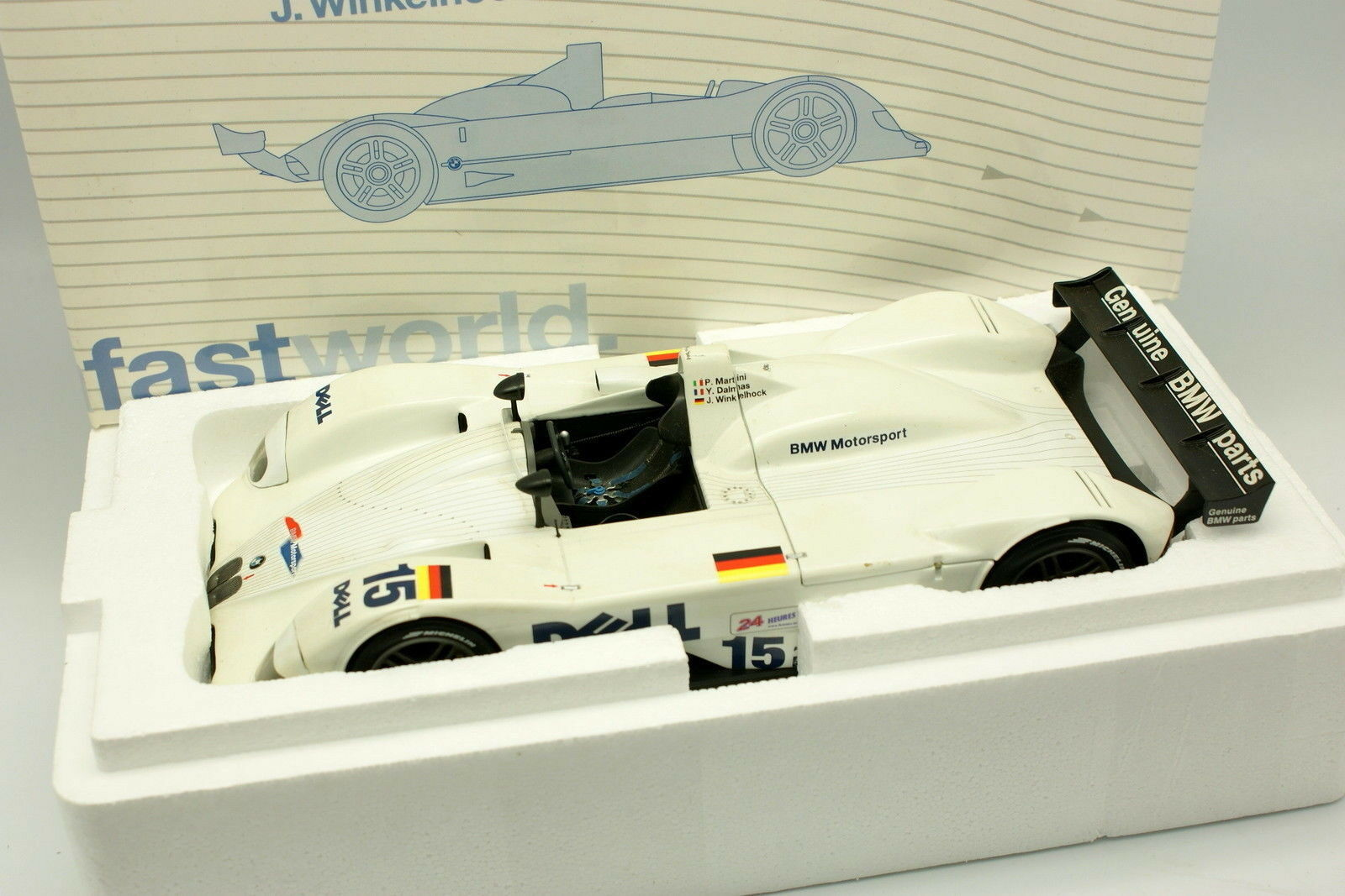 Kyosho 1 18 - - - BMW V12 MRLS No.15 Le Mans 1999 726387