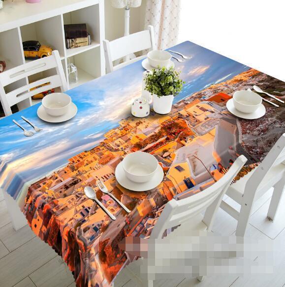 3d ciudad casa 8 mantel mantel pañuelo fiesta de cumpleaños event AJ wallpaper de